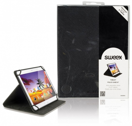 Sweex Tablet Folio Case 8`` Black
